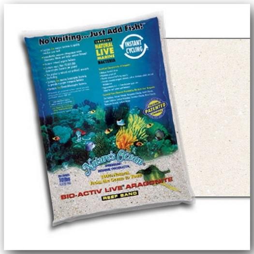 Nature's Ocean® Bio-Activ Live® Natural White Sand 4,54 kg Körnung 0,1 – 0,5 mm