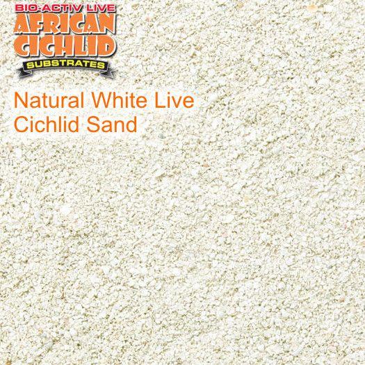 Natural White Live Cichlid Sand 9,07 kg, Körnung 1,2 - 1,7 mm