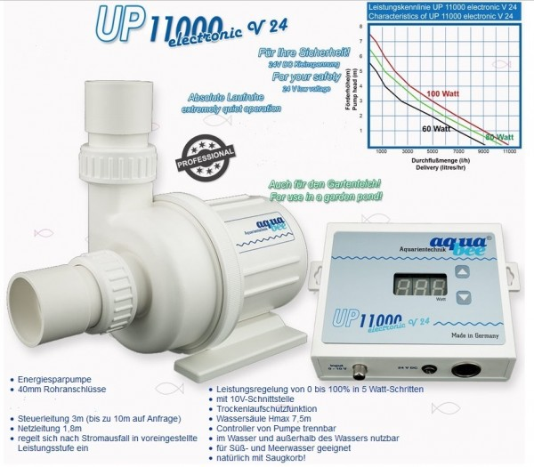 Universal BLDC Kreiselpumpe UP 11000 electronic V24