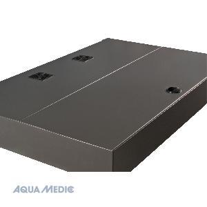 Magnifica 100 silber - Meerwasserkomplettsystem mit Unterschrank, eingebautem Innenfilter und Beleuc