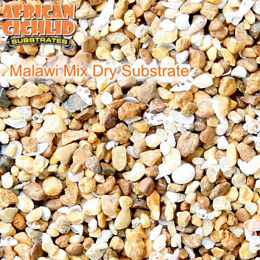 Malawi Mix Dry Substrat 9,07 kg, Körnung 3,5 - 5,0 mm
