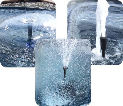 FontänenSet für SFP-Pumpenserie (Set mit 3 unterschiedlichen Fontänenköpfen)