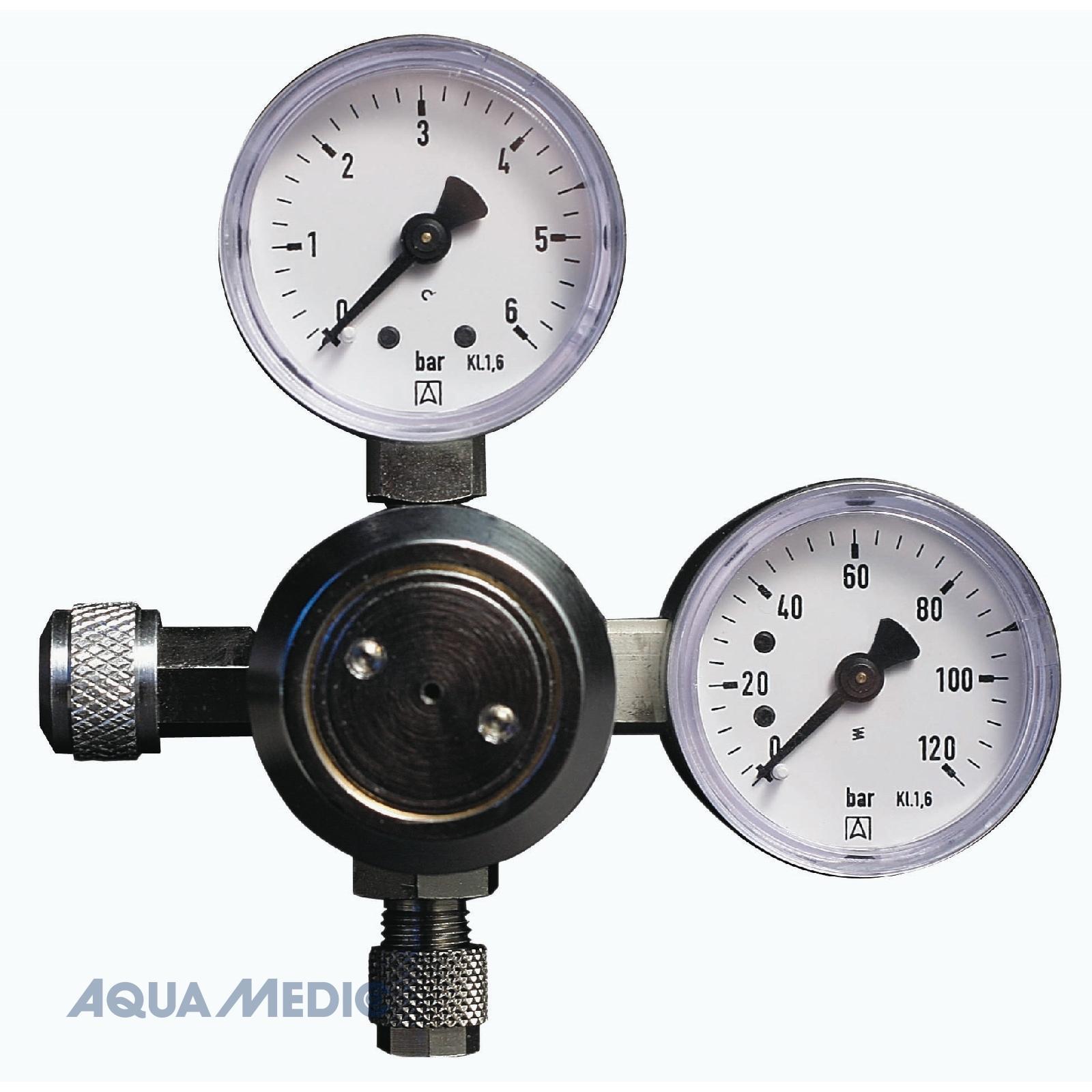 regular mit 2 Manometern - CO2-Armatur zur exakten Dosierung von CO2 in das Aquarium