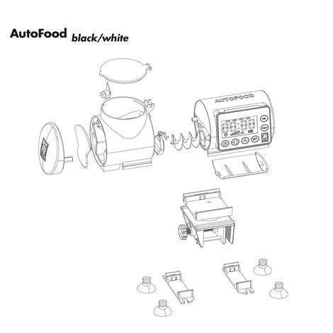 JBL AutoFood WHITE - Futterautomat für Aquarienfische