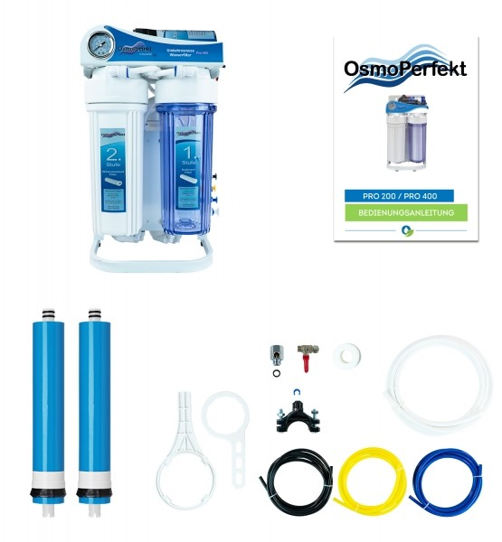 Osmoseanlage OsmoPerfekt Pro 200 / 750 Ltr. pro Tag