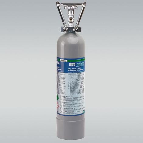 Mehrweg-Vorratsflasche mit 2 kg CO2 - JBL ProFlora m2000 SILVER