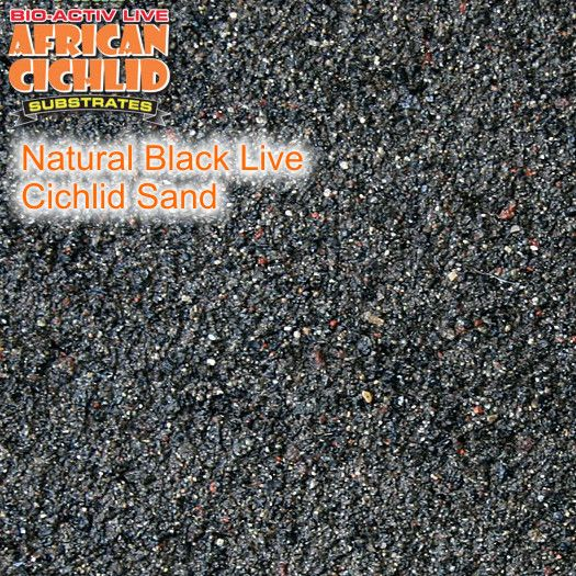 Natural Black Live Reef Sand 9,07 kg, Körnung 1,2 - 1,7 mm