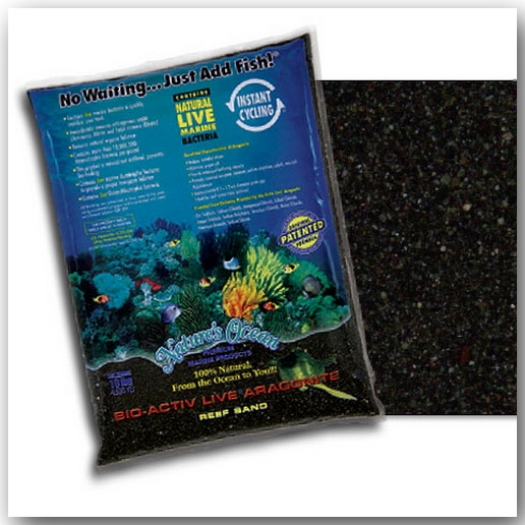 Nature's Ocean® Bio-Activ Live® Black Beach Sand 9,07 kg Körnung 0,5 – 1,7 mm