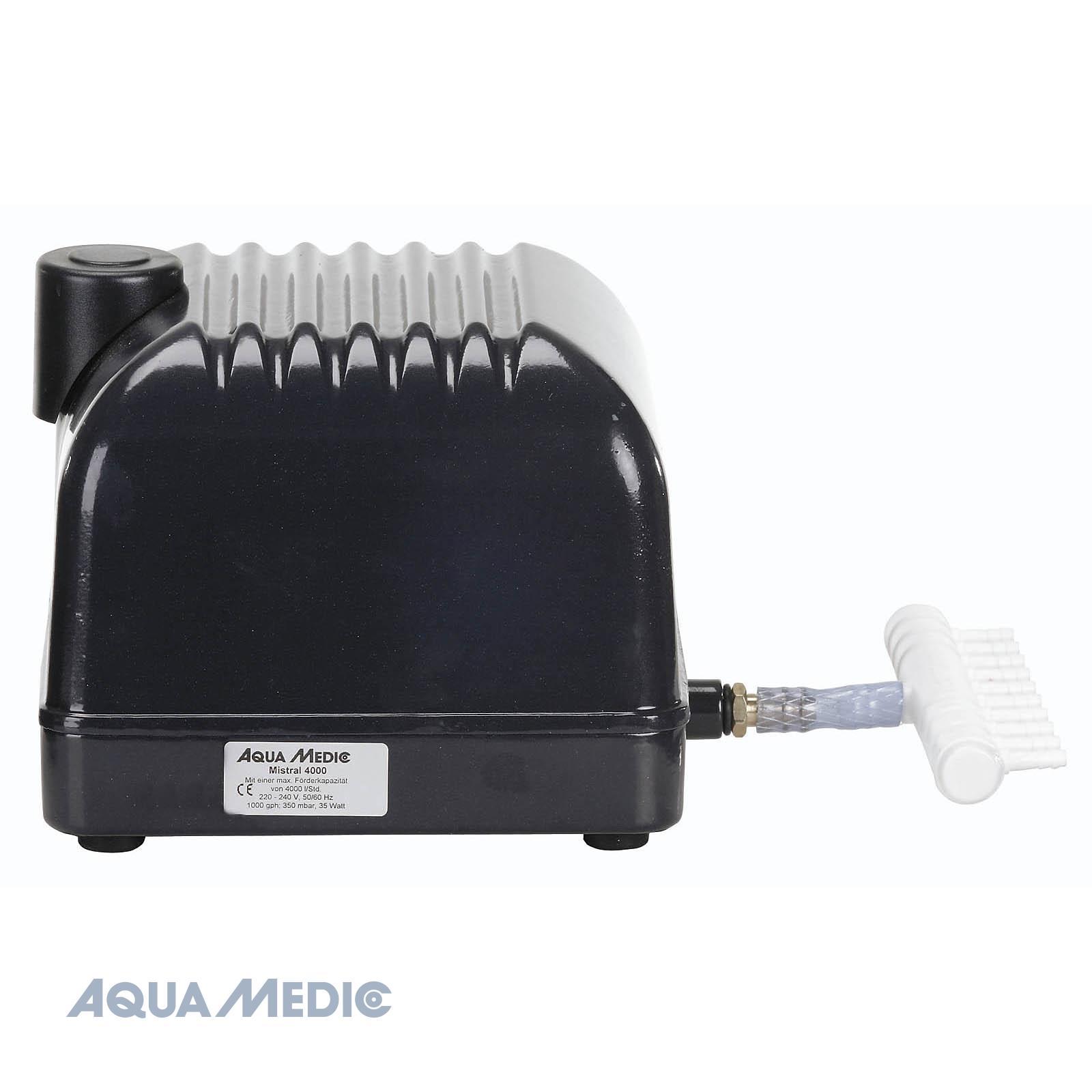 Mistral 4000 - Leistungsstarke Membranluftpumpen für Aquarien