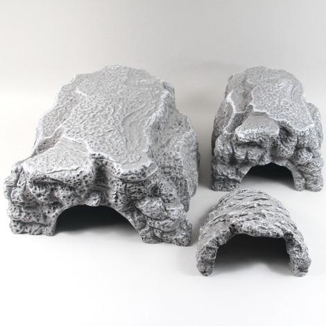 Graue Höhle für Terrarientiere - Größe XL