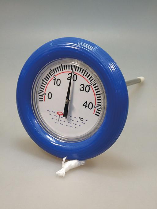 Schwimm-Thermometer rund