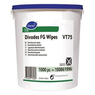Divodes FG Wipes VT75 Tücher mit alkoholischer Flächendesinfektion gebrauchsfertig