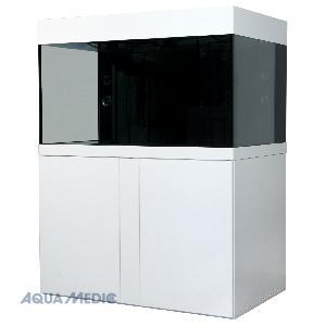 Magnifica 100 weiß - Meerwasserkomplettsystem mit Unterschrank, eingebautem Innenfilter und Beleucht