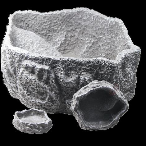 JBL ReptilBar GREY XS - Futter-, Trink- und Badenapf für Terrarientiere