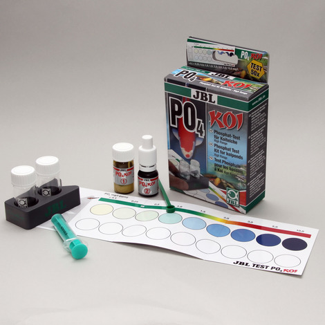 JBL PO4 Phosphat Test- Set Koi - Schnelltest zur Bestimmung des Phosphatgehalts