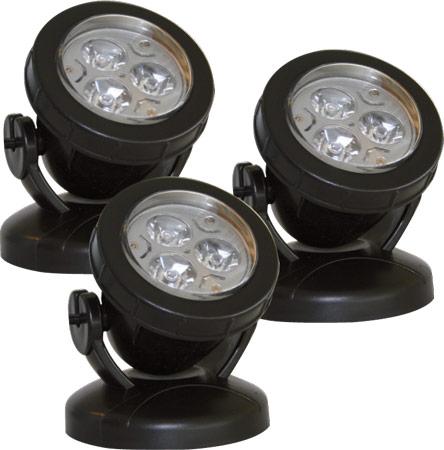Unterwasserbeleuchtungs-Set LEDPond P-3 blau, Set mit LED 3x3W/12V, inkl. Erdspießen*