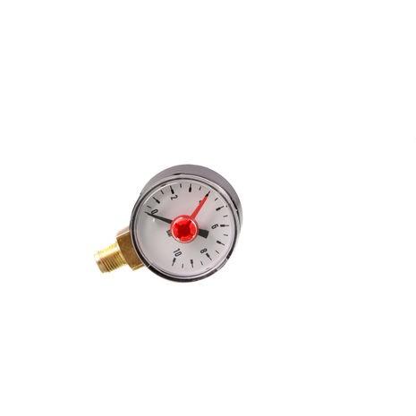 """ROWA - Manometer, 0 - 10 bar mit Markenzeiger, 1/8""""-Anschluß"""